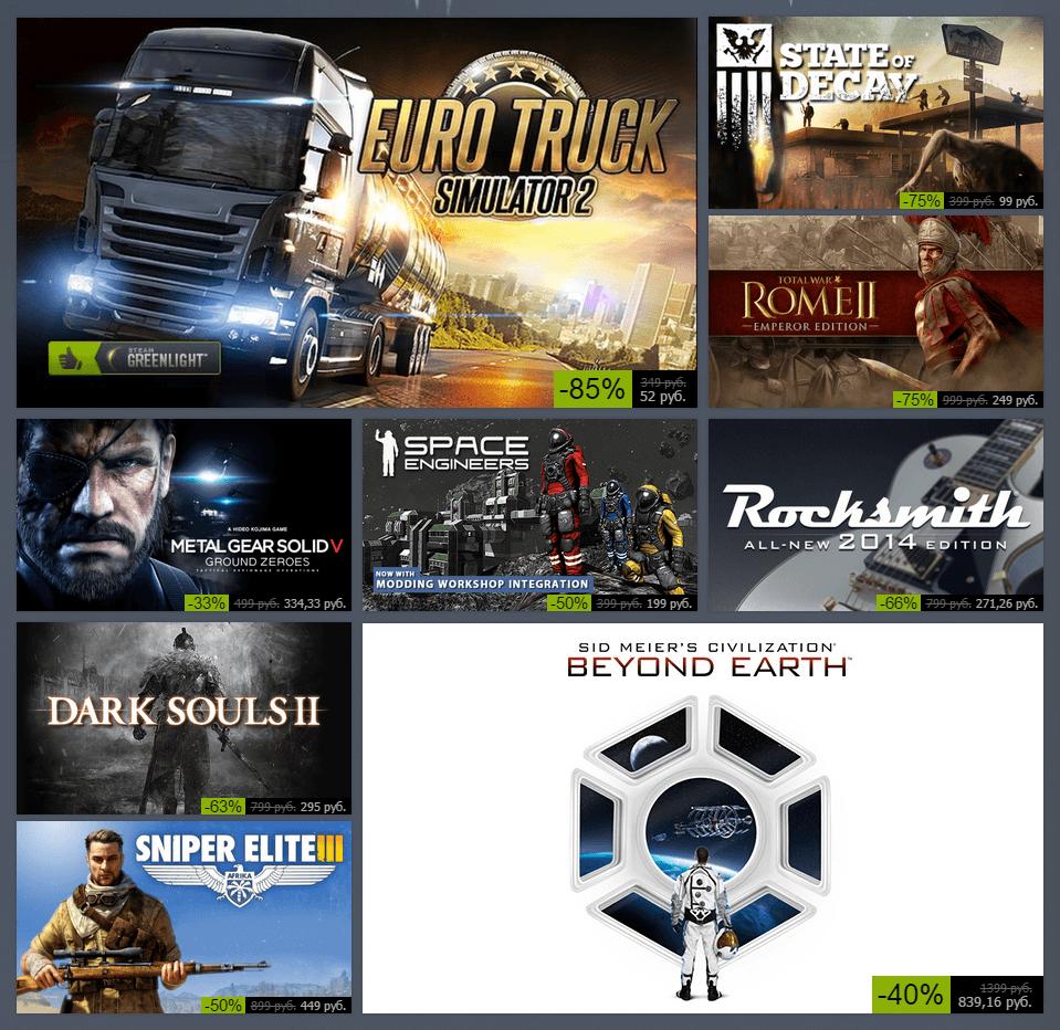 Зимняя распродажа Steam 2014: день первый