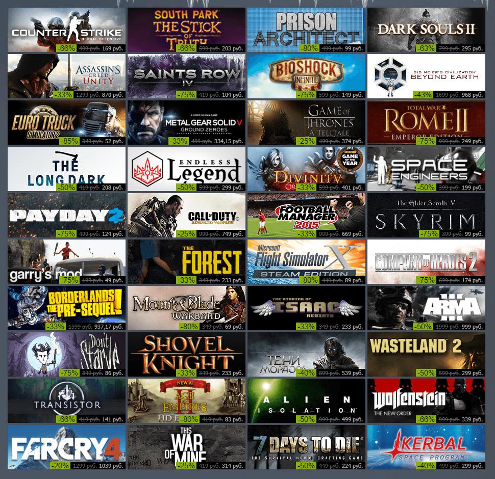Зимняя распродажа Steam 2014: скидки на бис