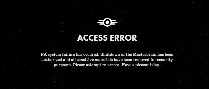 Секретное сообщение на сайте fallout.bethsoft.com