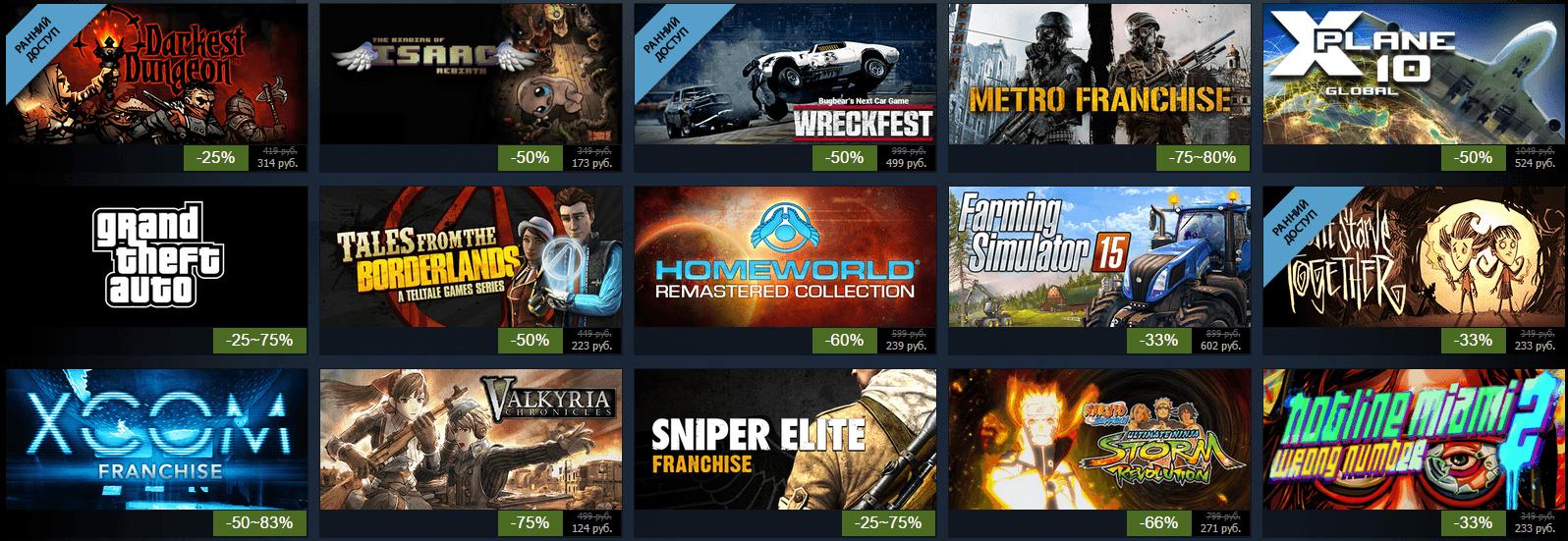 Летняя распродажа Steam 2015: день первый