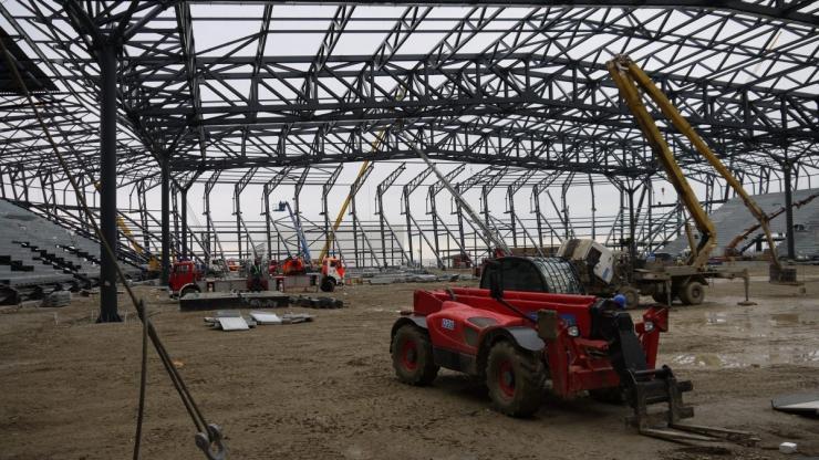 Строящийся комплекс Baku Crystal Arena