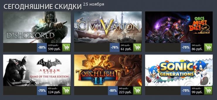 Осенняя распродажа Steam 2012: день пятый