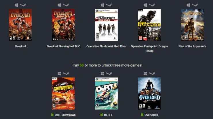 Humble Weekly Sale: Codemasters